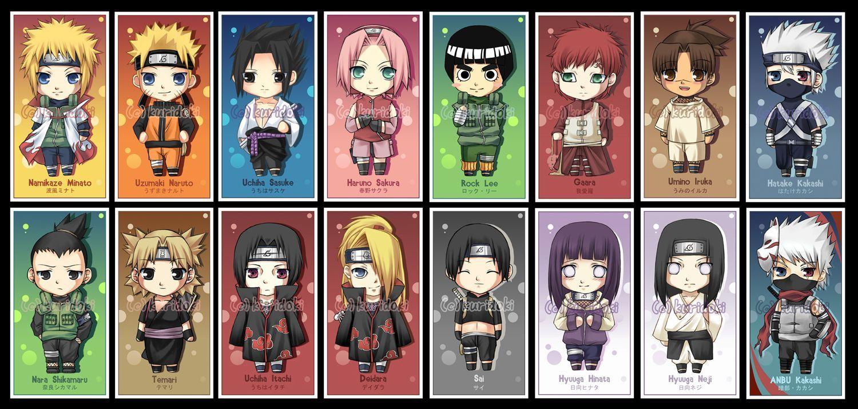 Les Principaux Personnage De Naruto